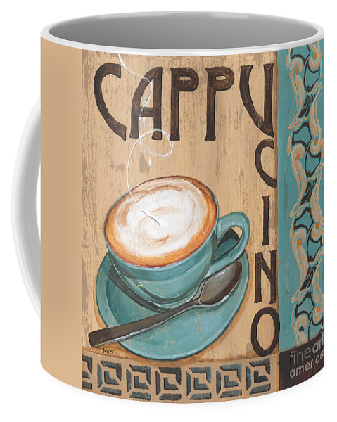 Food Coffee Mug featuring the painting Cafe Nouveau 1 by Debbie DeWitt