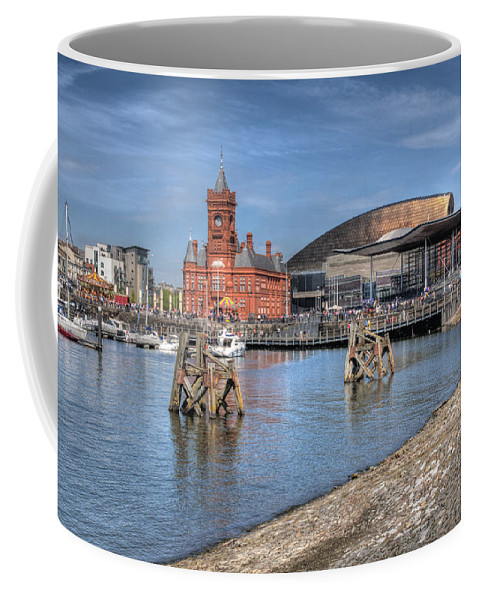 Cardiff Bay Coffee Mug featuring the photograph Cardiff Bay by Steve Purnell