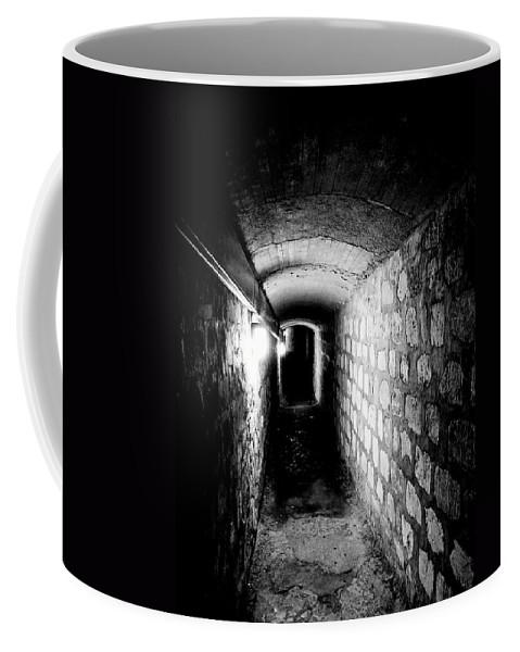 Paris Coffee Mug featuring the photograph Catacomb Tunnels In Paris France by Richard Rosenshein