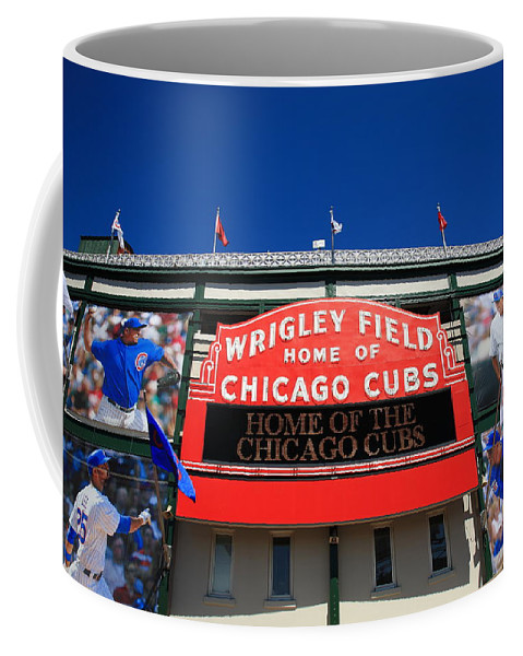 Addison Coffee Mug featuring the photograph Chicago Cubs - Wrigley Field by Frank Romeo
