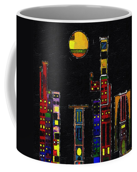 City Coffee Mug featuring the painting Chinatown by RC DeWinter