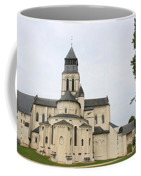 Cloister Coffee Mug featuring the photograph Cloister Fontevraud - France by Christiane Schulze Art And Photography