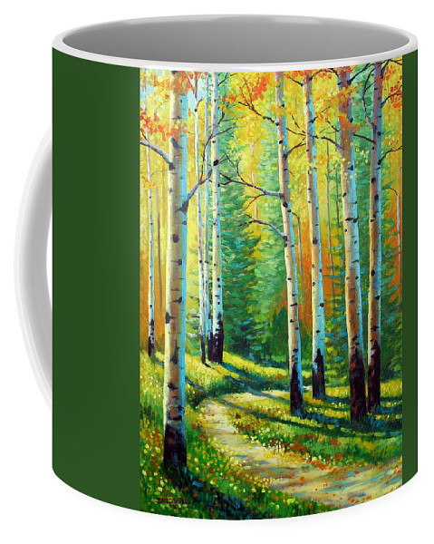 Landscape Coffee Mug featuring the painting Colors Of The Season by David G Paul