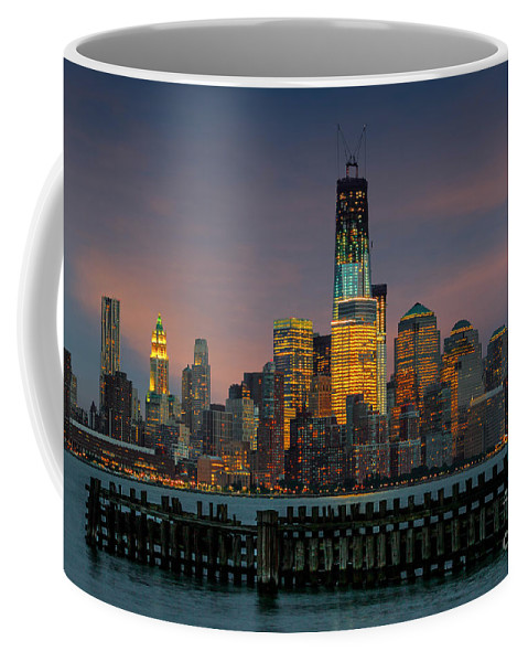 Architect Coffee Mug featuring the photograph Construction Of The Freedom Tower by Jerry Fornarotto