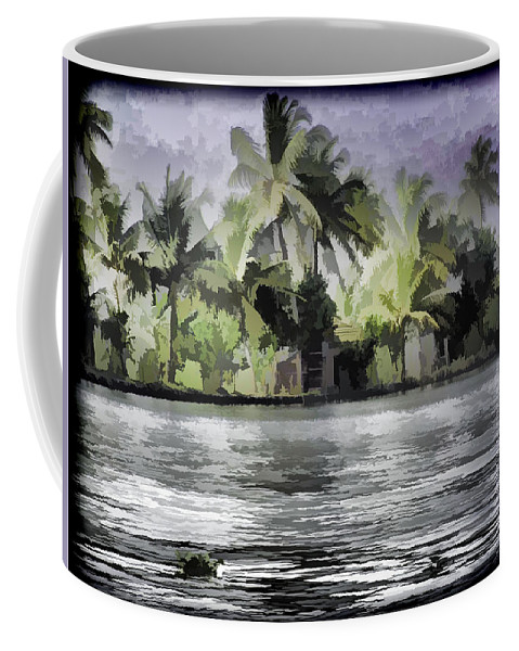 Alleppey Coffee Mug featuring the digital art Cottage With Greenery All Around by Ashish Agarwal