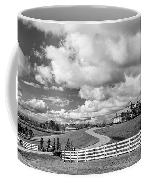 Ontario Coffee Mug featuring the photograph Country Living Bw by Steve Harrington