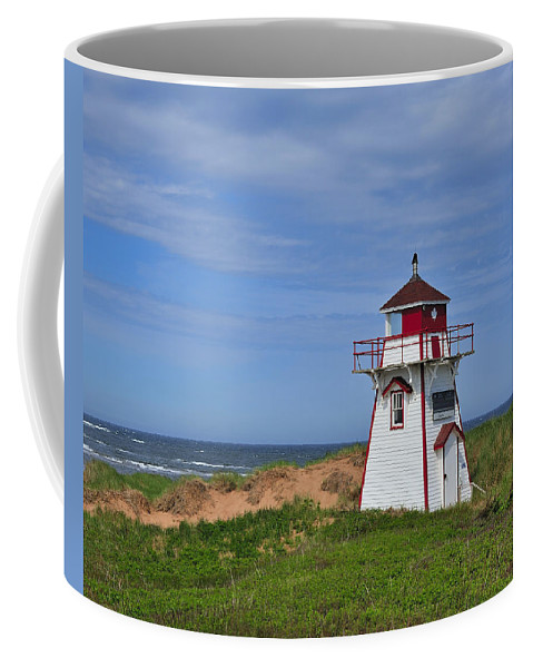 Prince Edward Island Coffee Mug featuring the photograph Covehead Harbour Lighthouse by Tony Beck