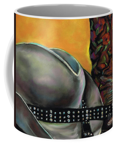 Cowgirls Coffee Mug featuring the painting Cowgirl Necessities by Frances Marino