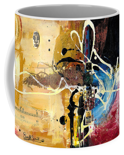 Everett Spruill Coffee Mug featuring the painting Cultural Abstractions - Martin Luther King jr by Everett Spruill