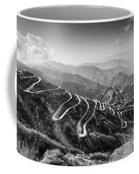 Road Coffee Mug featuring the photograph Curvy Roads Silk Trading Route Between China And India by Rudra Narayan Mitra