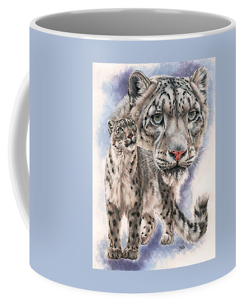 Big Cat Coffee Mug featuring the mixed media Dazzler by Barbara Keith