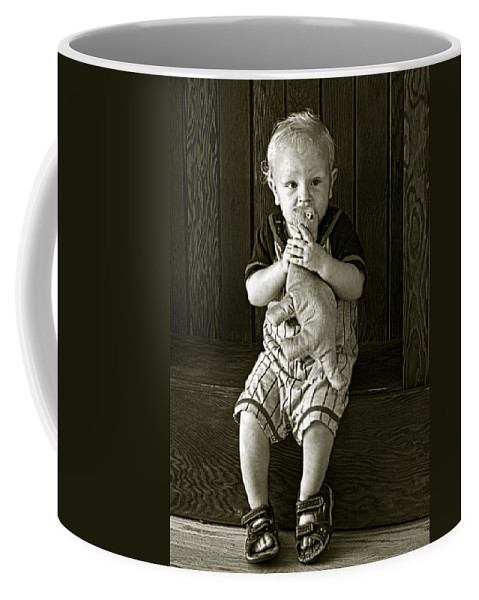 Dylan Coffee Mug featuring the photograph Dylan by Betty Depee
