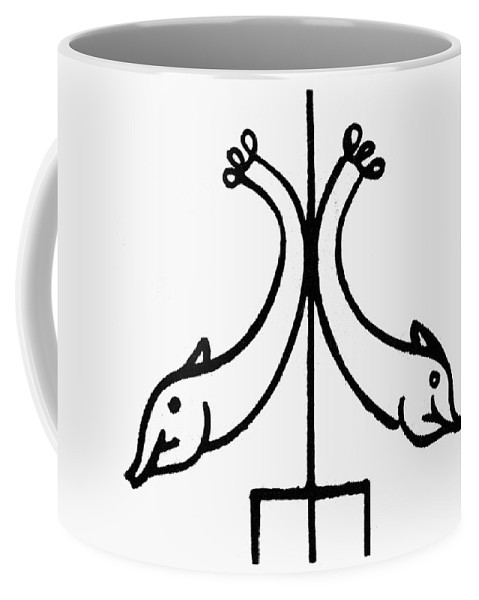 3rd Century Coffee Mug featuring the painting Early Christian Symbol by Granger