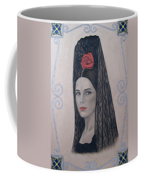 Elena Coffee Mug featuring the painting Elena by Lynet McDonald