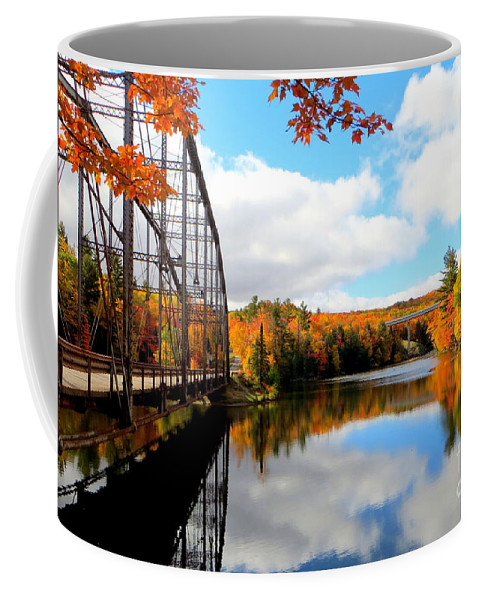 Fall Coffee Mug featuring the photograph Autumn In Upper Michigan by Jaunine Roberts
