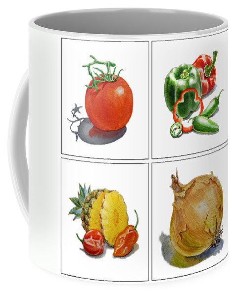 Still Life Coffee Mug featuring the painting Farmers Market Delight by Irina Sztukowski