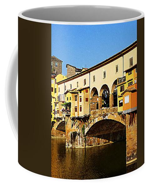 Italy Coffee Mug featuring the photograph Florence Italy Ponte Vecchio by Irina Sztukowski