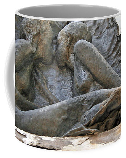 Sculpture Coffee Mug featuring the photograph Forbidden Love by Cora Wandel