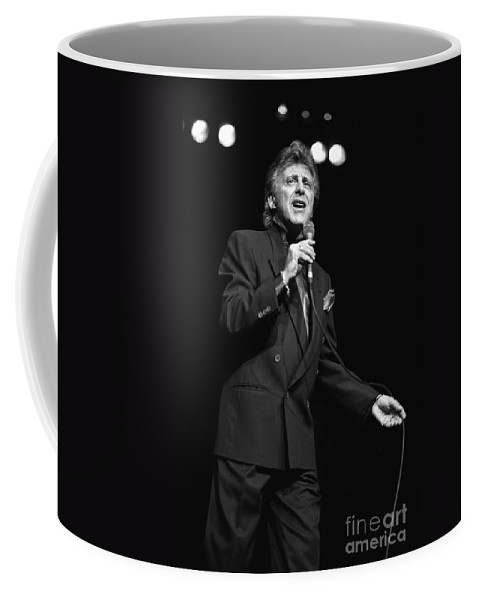 Singer Coffee Mug featuring the photograph Singer Frankie Valli by Concert Photos