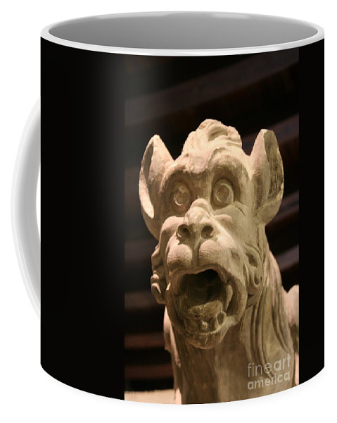Gargole Coffee Mug featuring the photograph Gargoyle by Christiane Schulze Art And Photography