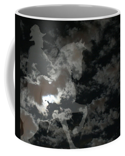 Ghost Rider Coffee Mug featuring the mixed media Ghost Rider by Ellen Henneke