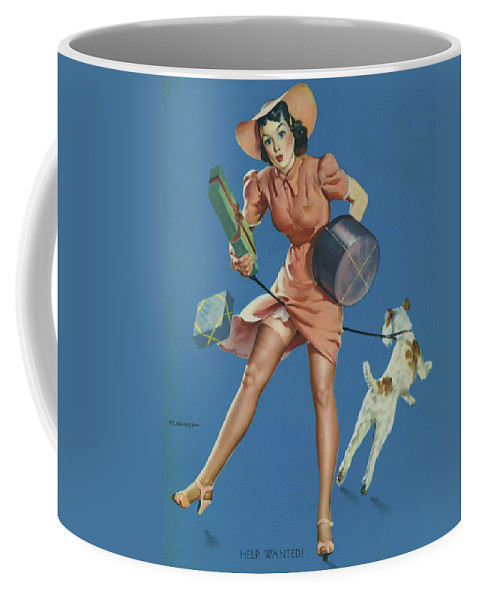 Caucasian Ethnicity Coffee Mug featuring the photograph Gil Elvgren's Pin-up Girl by Underwood Archives