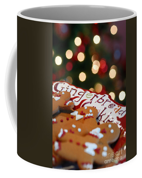 Baked Good Coffee Mug featuring the photograph Gingerbread Cookies On Platter by Amy Cicconi