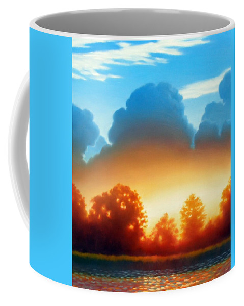 Sunset Coffee Mug featuring the painting Glowing by Kevin Lawrence Leveque