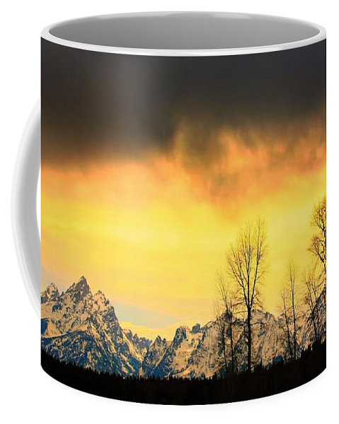 Grand Teton National Park Coffee Mug featuring the photograph Grand Tetons Wyoming by Amanda Stadther
