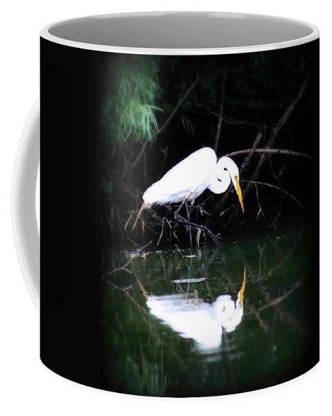 Bird Coffee Mug featuring the photograph Great White Egret by Amanda Stadther