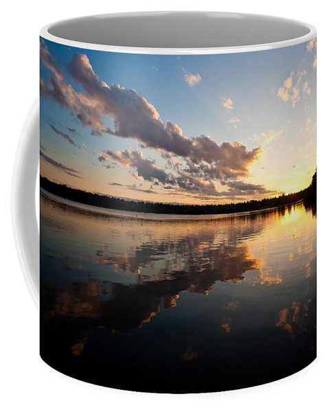 Greenlake Coffee Mug featuring the photograph Greenlake Sunset by Mike Reid