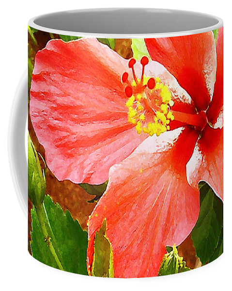 Hibiscus Coffee Mug featuring the photograph Happy Hibiscus by James Temple