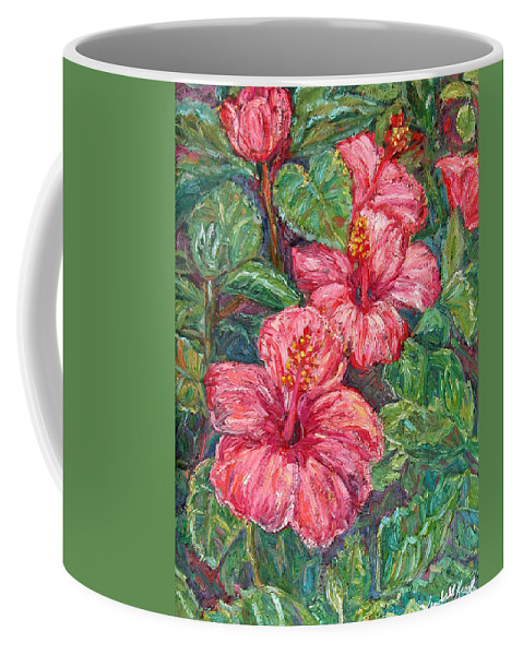 Hibiscus Coffee Mug featuring the painting Hibiscus by Kendall Kessler