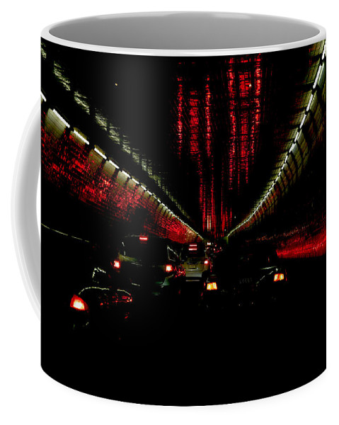 Holland Coffee Mug featuring the photograph Holland Tunnel Lights by Larry Jost
