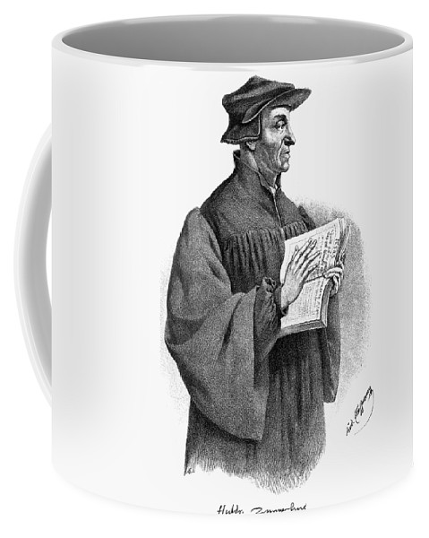 16th Century Coffee Mug featuring the painting Huldreich Zwingli (1484-1531) by Granger
