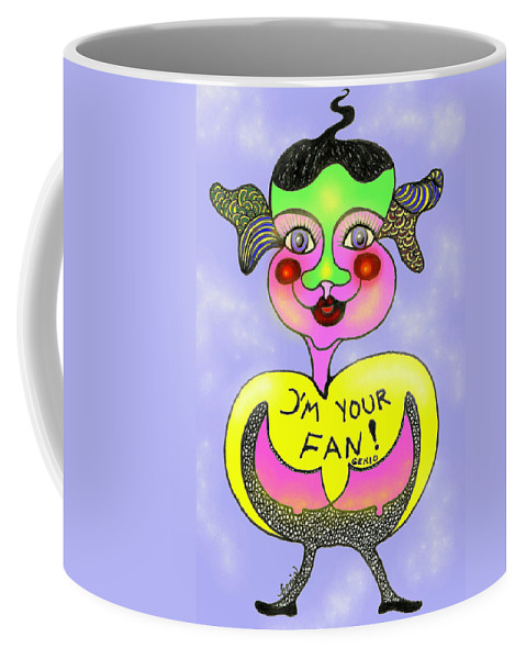 Genio Coffee Mug featuring the mixed media I'm Your Fan by Genio GgXpress