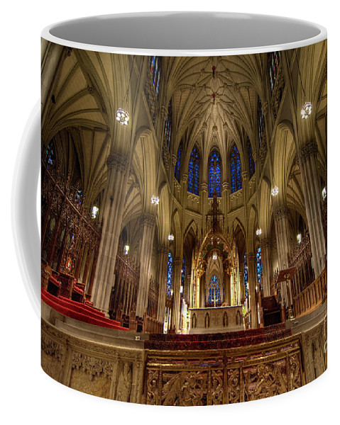 Altar Coffee Mug featuring the photograph Inside St Patricks Cathedral New York City by Amy Cicconi