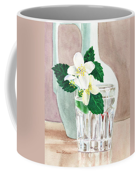 Jasmine Coffee Mug featuring the painting Jasmine by Irina Sztukowski