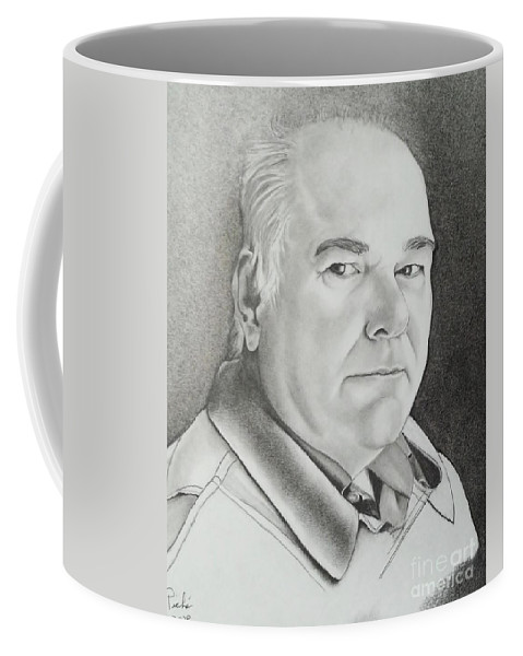 Jean The Husband Coffee Mug featuring the drawing Jean by Lise PICHE
