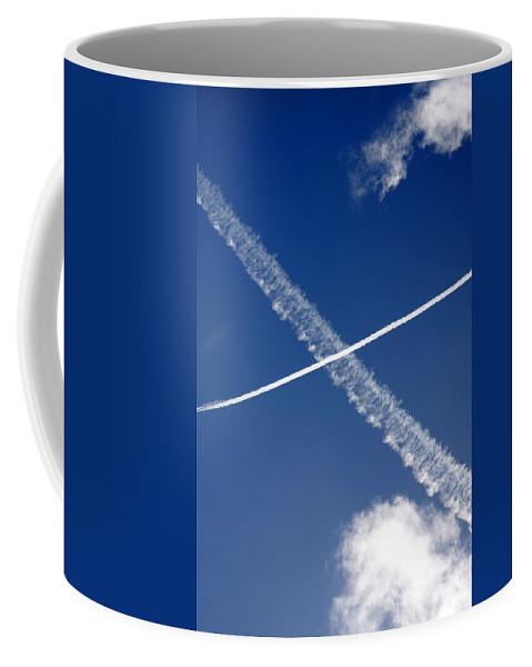 Aeronautic Coffee Mug featuring the photograph Jet Trails by Steve Ball