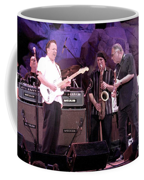 Downloads Coffee Mug featuring the photograph Guitarists Jimmie Vaughan And Duke Robbilard by Concert Photos