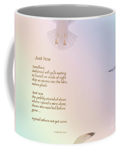 Seagull Coffee Mug featuring the photograph Just Now by Ann Horn