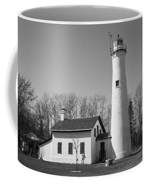 America Coffee Mug featuring the photograph Lighthouse - Sturgeon Point Michigan by Frank Romeo