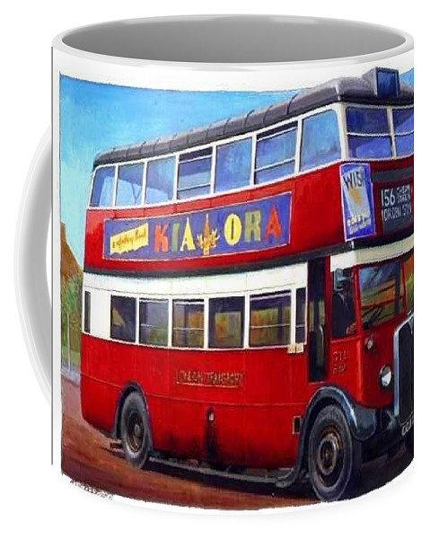 Art For Investment Coffee Mug featuring the painting London Transport Stl by Mike Jeffries