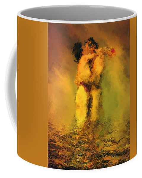 Nudes Coffee Mug featuring the photograph Lovers by Kurt Van Wagner