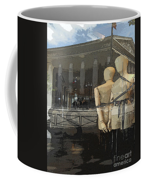 Abstract Coffee Mug featuring the photograph Madeline's Sentinels by Lauren Leigh Hunter Fine Art Photography