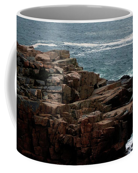 Maine Coffee Mug featuring the photograph Maine Seascape by Kathleen Struckle