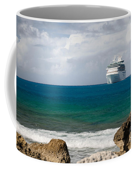 Bahamas Coffee Mug featuring the photograph Majesty Of The Seas At Coco Cay by Amy Cicconi