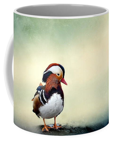 Mandarin Duck Coffee Mug featuring the photograph Mandarin Duck by Heike Hultsch