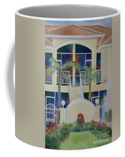 Marco Island Coffee Mug featuring the painting Marco Island Condo by Deborah Ronglien